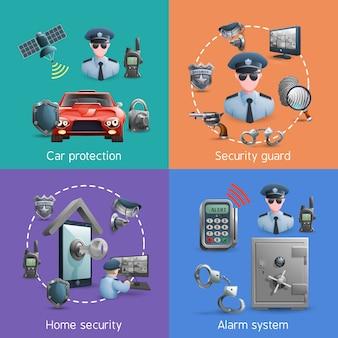 Conjunto de concepto de seguridad