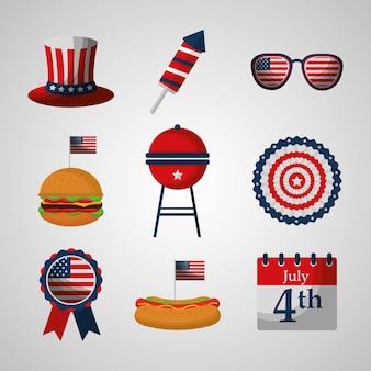 Conjunto de día de la independencia americana