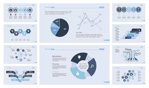 Conjunto de diez diapositivas de finanzas