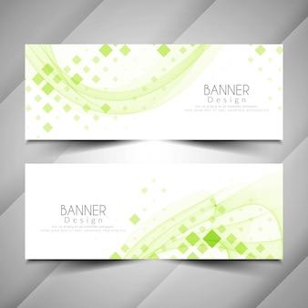 Conjunto de diseño de banners elegante moderno abstracto