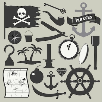 Conjunto de elemento del pirata