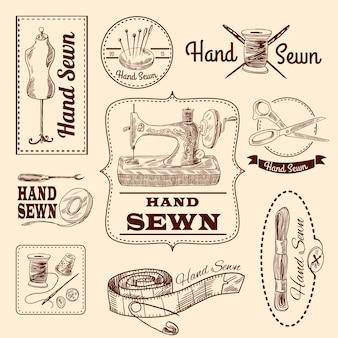 Conjunto de emblemas de costura