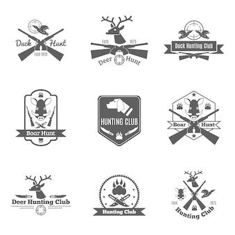 Conjunto de etiquetas de caza