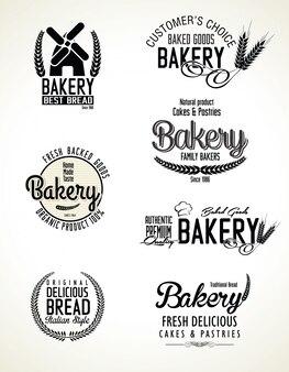 Conjunto de etiquetas de panadería