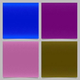 Conjunto de fondo de patrón de puntos de semitono geométrico - gráfico de efectos de escritorio de vector con círculos de colores en diferentes tamaños