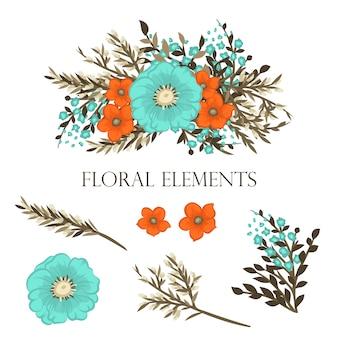 Conjunto de fondo floral