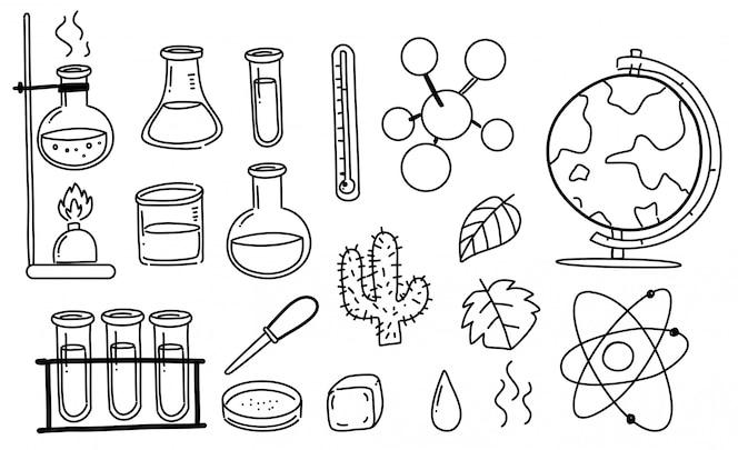 Conjunto de garabatos científicos
