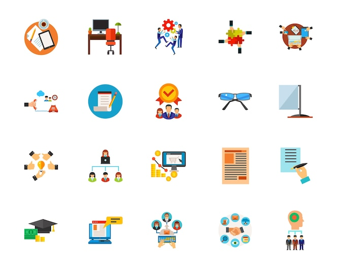 Conjunto de iconos de flujo de trabajo