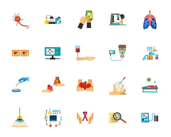 Conjunto de iconos de infección viral