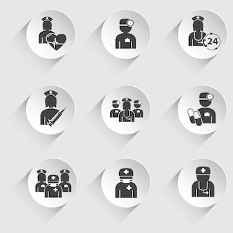 Conjunto de iconos de medicina