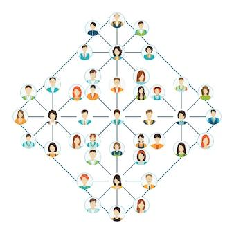 Conjunto de iconos de personas conectadas.