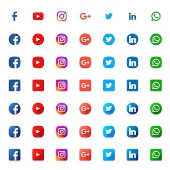Conjunto de iconos sociales