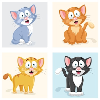 Conjunto de ilustración de animales