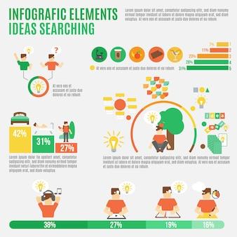 Conjunto de infografía de ideas