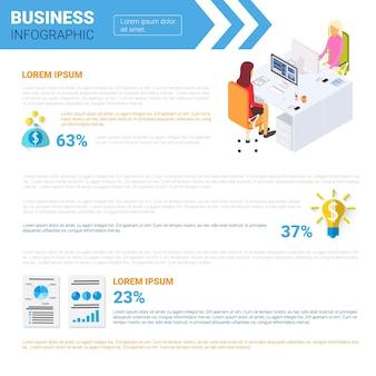 Conjunto de infografías de negocios