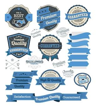 Conjunto de insignias vintage y elementos de diseño
