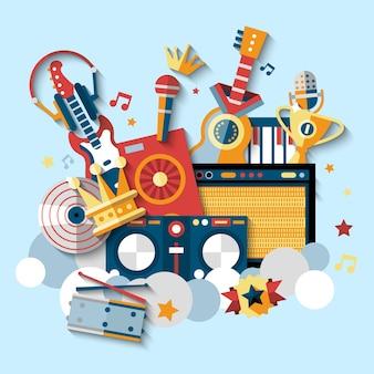 Conjunto de instrumentos musicales