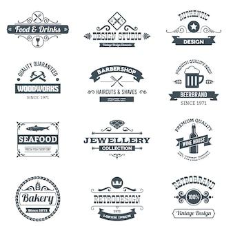Conjunto de logotipo retro