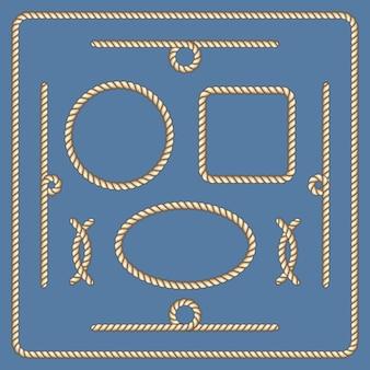 Conjunto de marcos de vectores de cuerdas náuticas