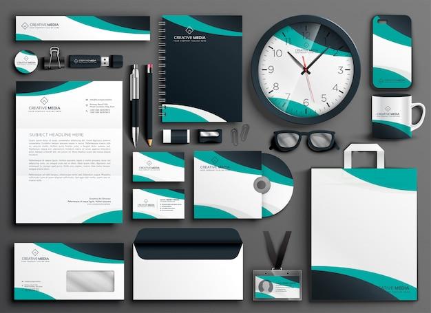 Conjunto de material publicitario moderno de negocios