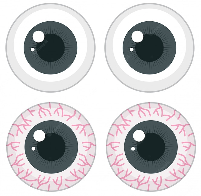 Conjunto de ojos diferentes