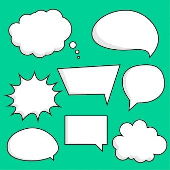 Conjunto de pegatinas de burbujas de chat cómico