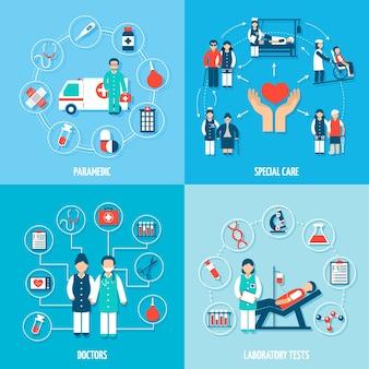 Conjunto de personal médico