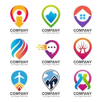 Conjunto de plantillas de diseño de logotipo de punto