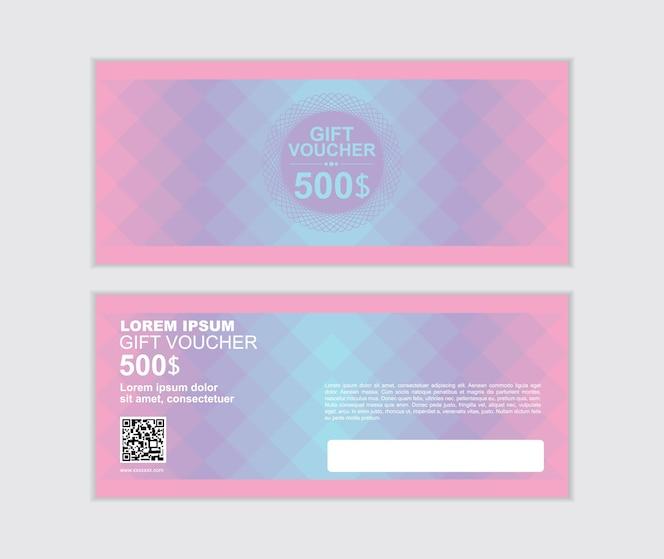 Conjunto de plantillas de diseño de vector de voucher de regalo