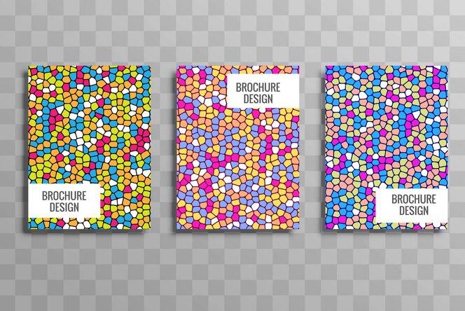 Conjunto de plantillas de folleto colorido elegante negocio