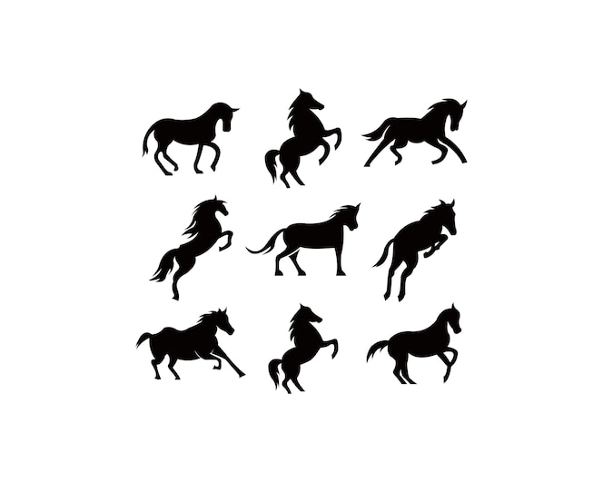 Animal del caballo del bebé en estilo de dibujos animados ...