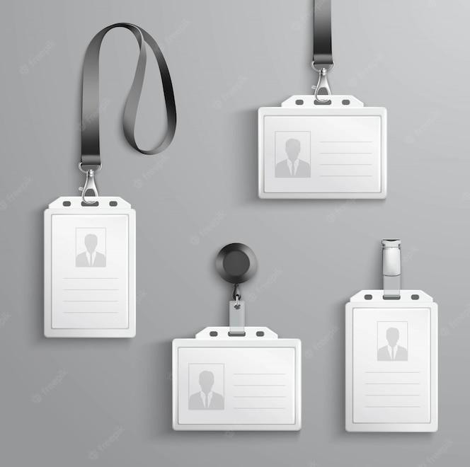 Conjunto de tarjetas de identificación
