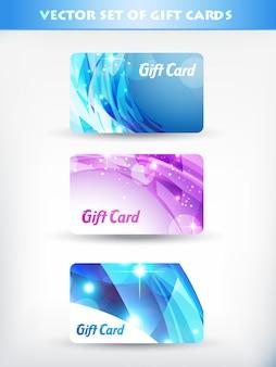 Conjunto de tarjetas de regalo
