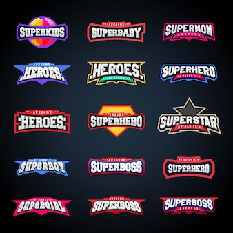 Conjunto de tipografía de emblema deportivo