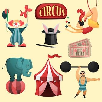 Conjunto decorativo de circo