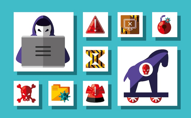 Conjunto de delitos cibernéticos