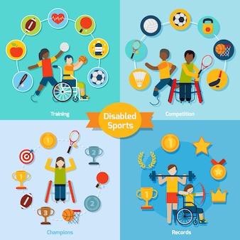 Conjunto de deporte para discapacitados