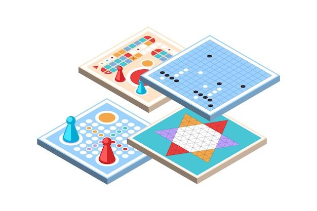 Conjunto de desafiantes juegos de mesa.