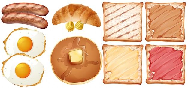 Un conjunto de desayuno