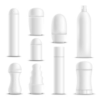 Conjunto de desodorantes blancos