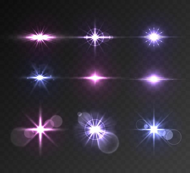 Conjunto de destellos de iluminación