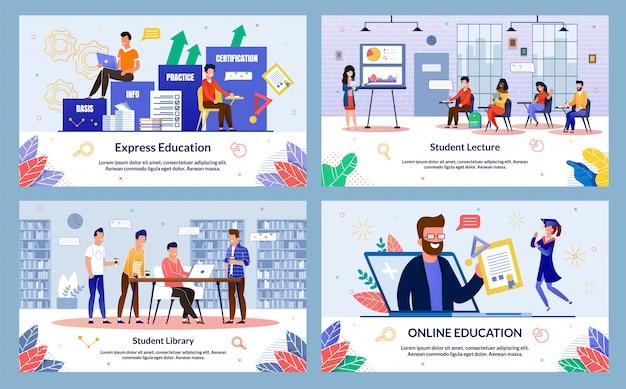 Conjunto de diapositivas de educación expresa