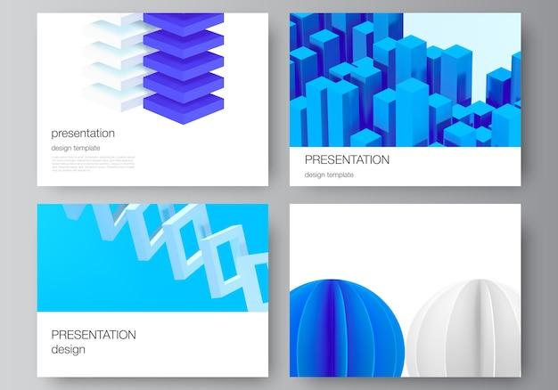 Conjunto de diapositivas de presentación