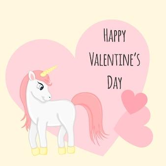 Conjunto de dibujos animados con animales y letras para el día de san valentín.