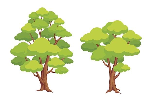 Conjunto de dibujos animados de árbol