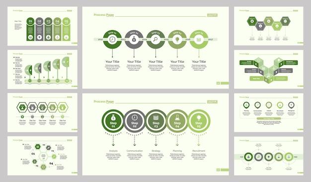Conjunto de diez diapositivas de entrenamiento