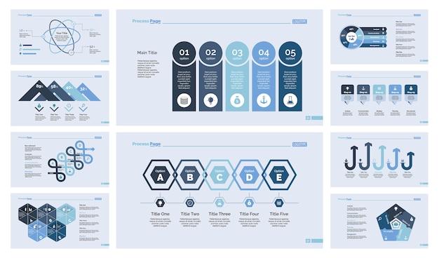 Conjunto de diez plantillas de diapositivas de marketing