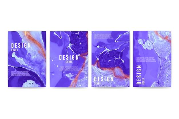 Conjunto de diferentes diseños de portadas coloridas