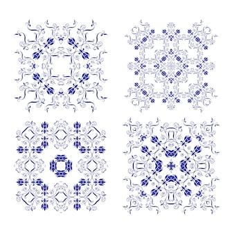 Conjunto de diferentes elementos de encaje.