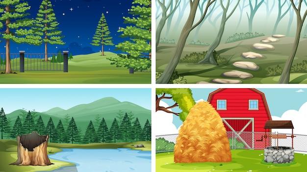 Conjunto de diferentes escenas o fondo